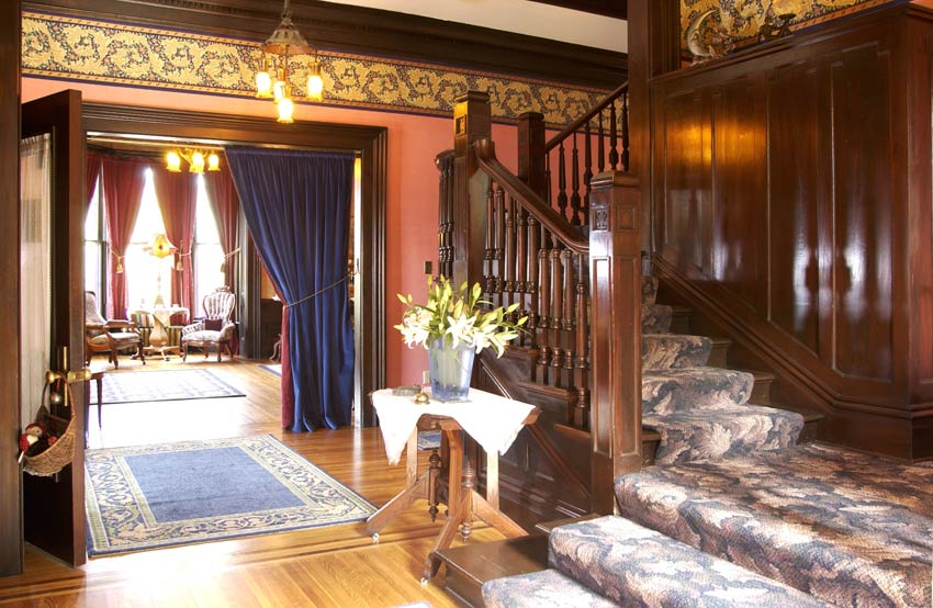 The stairs at our Red Wing B&B