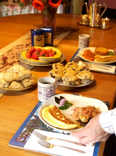 breakfast at our Minnesota B&B