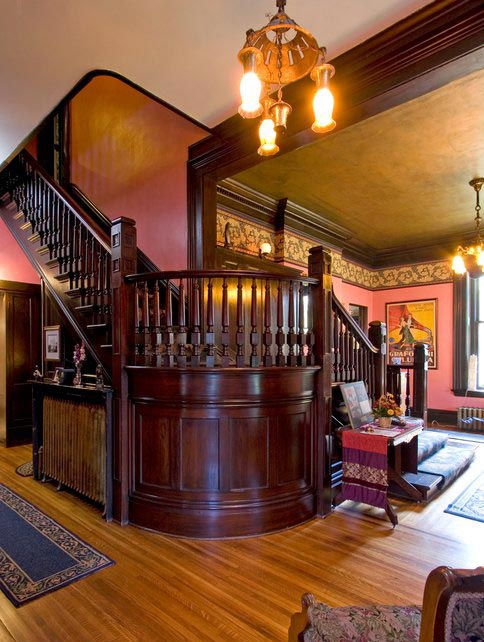 The staircase at our Red Wing B&B